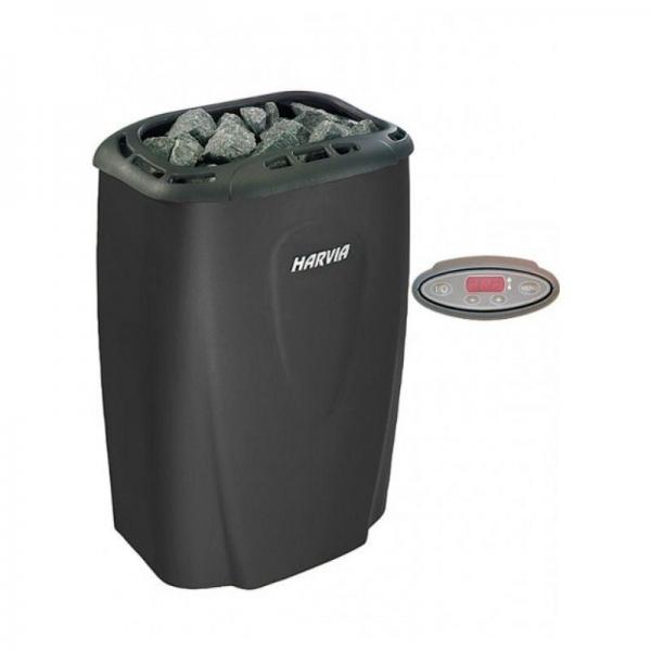 Электрическая печь Harvia Moderna 4.5 кВт  (черная) (выносной пульт)