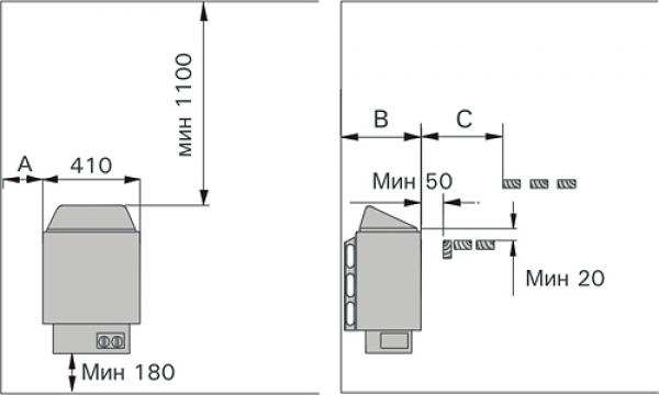 Электрическая печь Harvia Trendi 8 кВт (встроенный пульт)