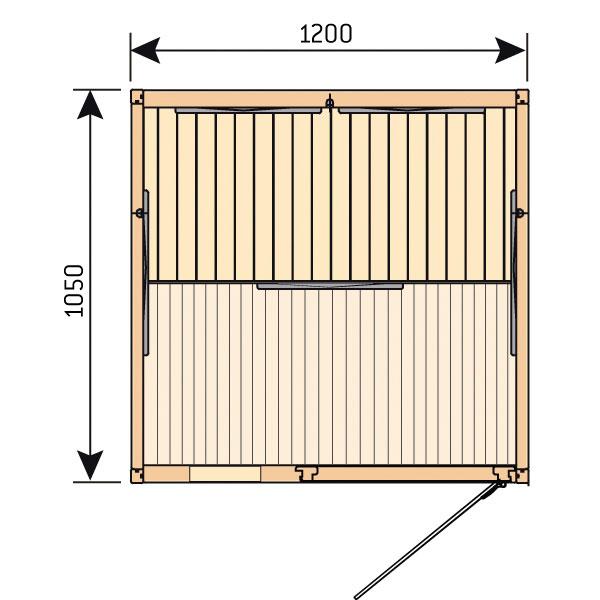 Инфракрасная сауна Harvia Radiant SGC1210BR (двухместная, хемлок)